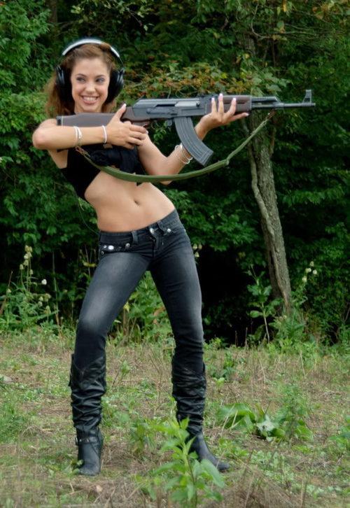 Gigi rivera with gun